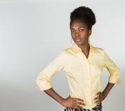 afro - amerykanów bizneswomanu young Obrazy Stock