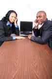 afro - amerykanie interesy partnerów Zdjęcie Stock