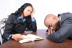 afro - amerykanie interesy partnerów Zdjęcie Royalty Free