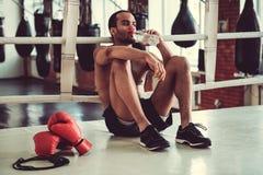 Afro amerykanina bokser Zdjęcie Stock