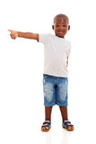Afro amerykanina chłopiec Obraz Royalty Free