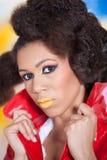 Afro amerykanina dziewczyna Zdjęcie Royalty Free
