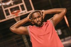 Afro amerykanina gracz koszykówki Zdjęcie Royalty Free
