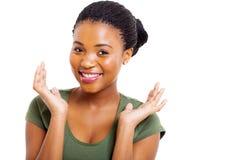 Afro amerykanina kobieta Fotografia Royalty Free