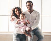 Afro amerykanina rodzina Zdjęcie Royalty Free