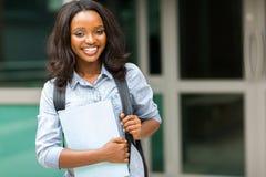Afro amerykanina uczeń Zdjęcia Stock