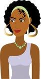 afro avatarflicka stock illustrationer