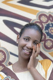 Afro beauty with a traditional henna manicure Stock Image