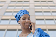 Afro beauty wearing a traditional headscarf Royalty Free Stock Photography