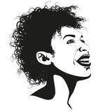 Afro beauty Royalty Free Stock Photography