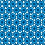 Afro Blue Pattern Stock Image