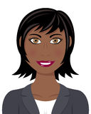 Afro Business Woman with Black Hair Stock Photo