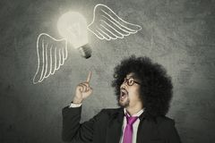Creative businessman with an idea Stock Photography