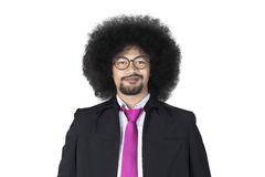 Afro businessman looking at the camera Royalty Free Stock Photography