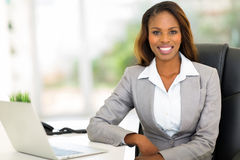 Afro businesswoman office Stock Photography