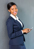 Afro businesswoman smart phone Royalty Free Stock Image