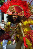 Afro-Caribbean girl dancing at Cariwest Stock Image