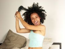 Afro and comb. Royalty Free Stock Photos