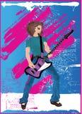 Afro dell'eroe della chitarra Fotografie Stock