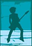 Afro della chitarra Immagine Stock Libera da Diritti