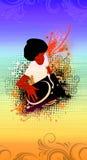 Afro DJ Imagens de Stock Royalty Free