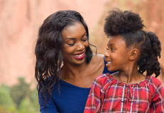 Afro dziecko i matka Fotografia Stock