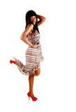 Afro dziewczyny taniec. Zdjęcie Royalty Free