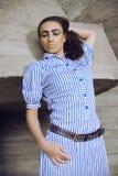 afro egyptiskt flickasmink Royaltyfri Foto