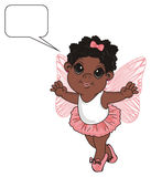 Afro fairy and empty footnote Stock Photo