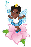 Afro fairy and flower Stock Photos