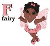 Afro fairy with letters Royalty Free Stock Photos