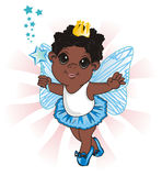 Afro fairy with wand Royalty Free Stock Images