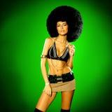 afro flicka Royaltyfria Foton