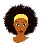 Afro- flicka vektor illustrationer