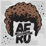 Afro fryzury Kędzierzawy Masowy włosy Obrazy Royalty Free