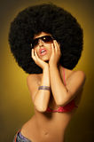 Afro Girl Royalty Free Stock Photography