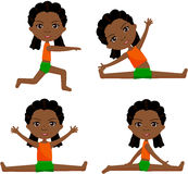 Afro girl with dreadlocks doin morning work-out Stock Photo