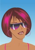 Afro girl with sunglasses Royalty Free Stock Images