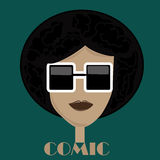 Afro glasses Royalty Free Stock Image