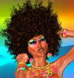 Afro- härlig framsida, kvinna fotografering för bildbyråer