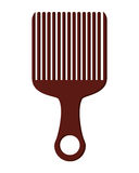 afro hair comb icon Royalty Free Stock Photography