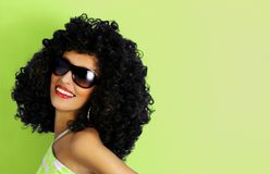 Afro haircut Royalty Free Stock Photo