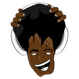 Afro hairstyle music Stock Photography