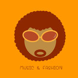 Afro icon Royalty Free Stock Image