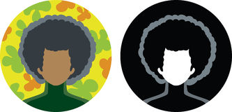 Afro-icona Fotografia Stock Libera da Diritti