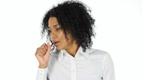 Afro kobiety Amerykańska kobieta Ka, kasłanie Zdjęcie Stock