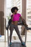 Afro kobiety amerykański bieg na karuzeli Obraz Royalty Free