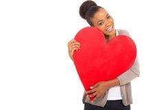 Afro kobiety amerykański serce Obraz Stock