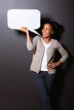 Afro kobiety mowy bąbel Obrazy Royalty Free