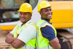 Afro kopalniani pracownicy Obraz Stock
